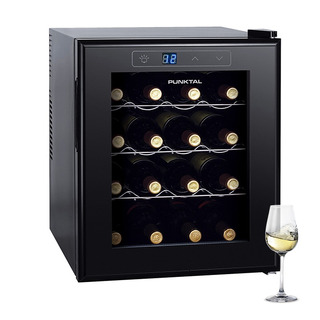 Enfriadora De Vinos Punktal 16 Botellas Luz Interna Dimm