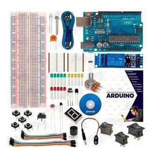 Kit Básico Arduino Uno R3 + Curso + Control Por Celular