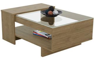 Mesa De Living Ratona Centro Moderna Elegante Vidrio Monet