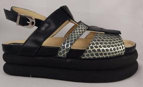 Calzado Sandalia Cuero Dama Plataforma