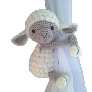 Sujeta Cortinas Oveja Crochet Amigurumi