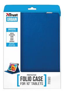 Estuche Con Soporte Trust Primo Para Tablet 10 Azul