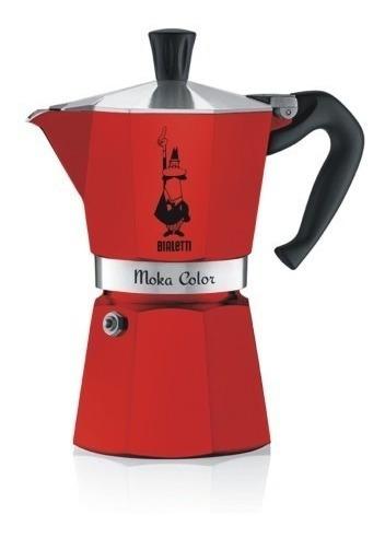Cafetera Bialetti Moka Roja 3t + Lata