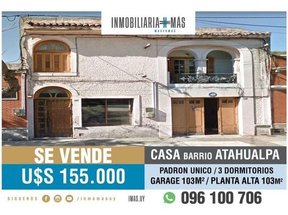 Casa Venta Atahualpa Montevideo Inmobiliaria Mas R *