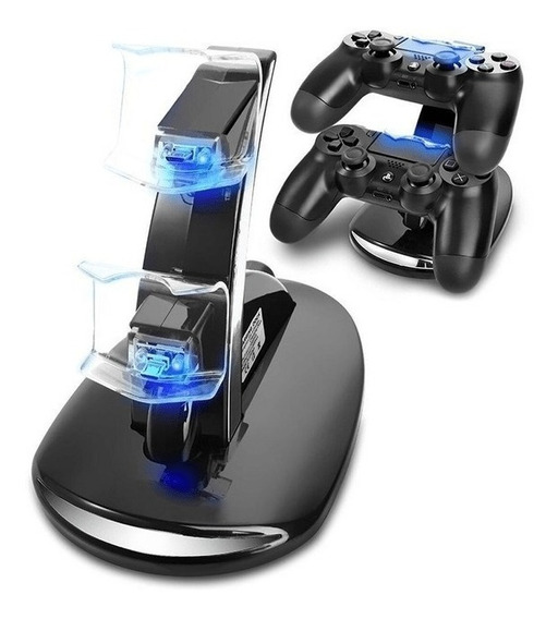 Cargador Ps4 Joystick Control Mando Playstation 4 Base Doble