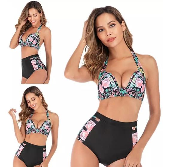 Mallas Tiro Alto - Bikini -traje De Baño De Dama. Hasta 3xl
