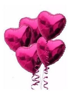Globos De Corazón Metalicos 18 Pulgadas