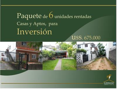 Paquete P/ Inversión De 6 Propiedades Rentadas.casas Y Aptos