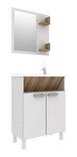 Mueble De Baño - Pileta + Botiquin + Espejo + Repisas Bacha