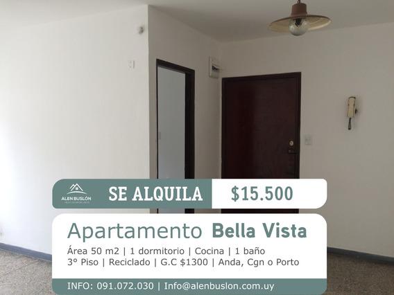 Apartamento 1 Dormitorio 3°piso Lateral, En Agraciada, Ideal