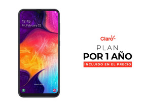 Samsung Galaxy A50 - Black + Plan De 2gb Incluido Por Un Año