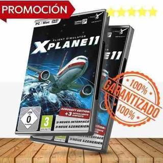 X Plane 11 Simulador De Vuelo + Escenario Global - Juegos Pc