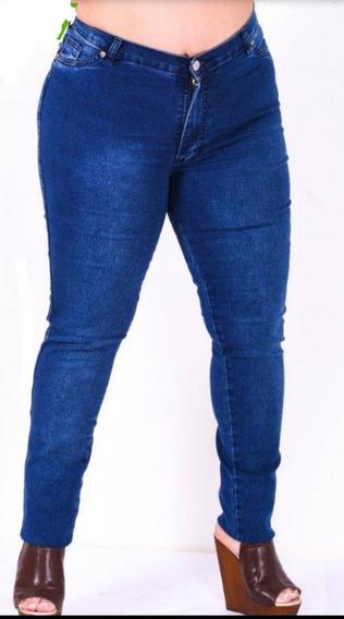 Jeans Talles Grandes Elastizados Tiro Alto Calce Perfecto