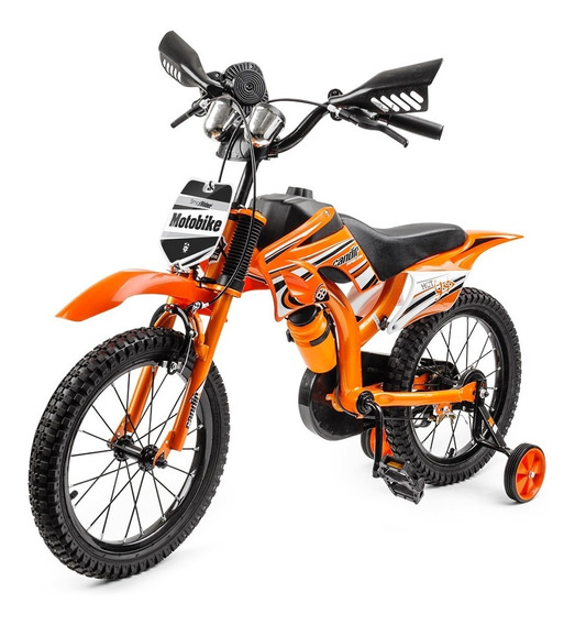 Bici Moto Rodado 16 Niños Pf Mobiliario