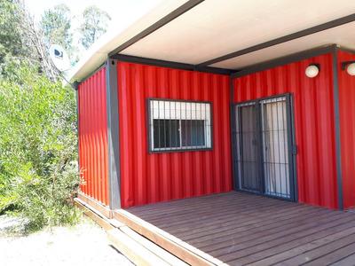 Casa Container De 2 Dorm Y 2 Baños. Amplio Deck Techado