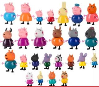 Peppa Pig Set X25 Juguetes + Regalito Decoracion De Tortas