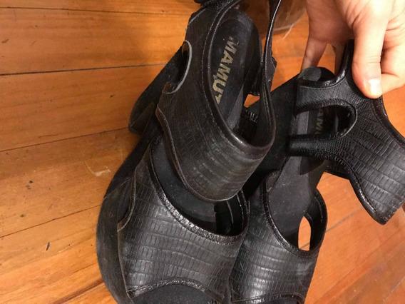 Zapatos Fiesta Plataforma Cuero