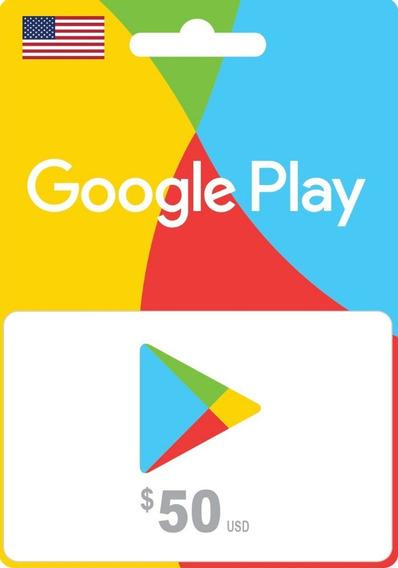 Tarjeta Google Play 50 Usd (cuentas De Eeuu ) - Mercado Uy