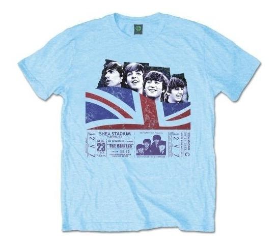 Remera Oficial Beatles Live I Love Fan Store Mvd Mercha