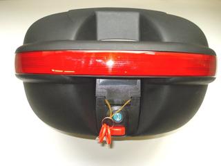 Valija Baul Trasera Para Moto 45x39x28 Color Negro C/llave