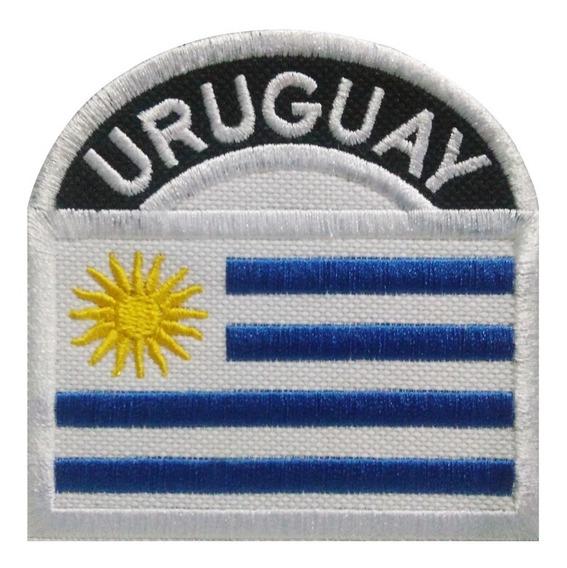 Parche Bordado Bandera Uruguay.