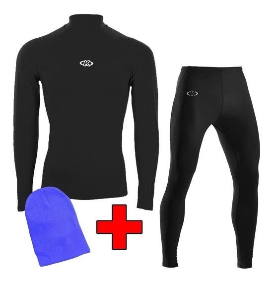 Set Para Niño Térmica Calza + Camiseta + Regalo Mvdsport