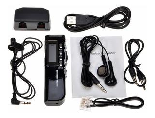 Grabador De Voz Digital Auricular+microfono+graba Telefono