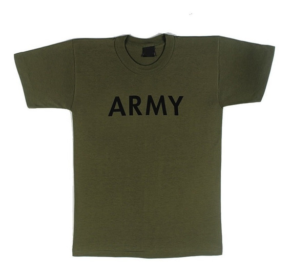 Camiseta Militar Manga Corta Army Verde Oliva 2xl - Outlet