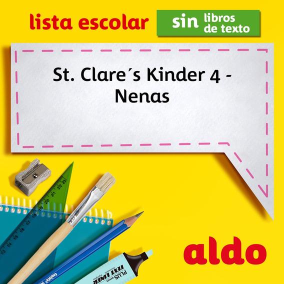 Lista Escolar St. Clare´s Kinder 4 - Nenas