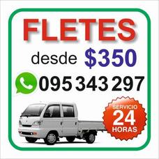 Fletes Desde $350 - Cel. 095343297 - 24hs - Auxilio De Motos