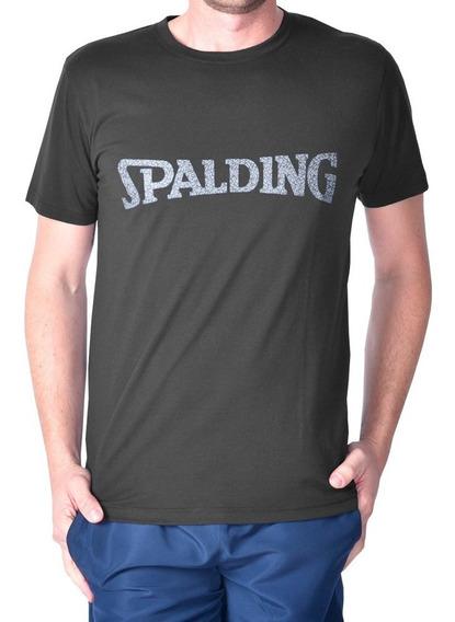 Remera Spalding Camiseta Casual De Algodón Para Hombre