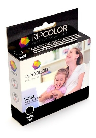 Cartucho Ripclor Brother Negro Lc61 Dcp-165c / Mfc-290c / Mf