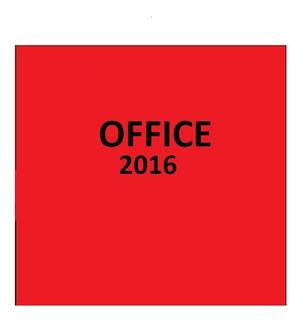 Paquete De Ofice 2016 Pro. (instalación Remota)