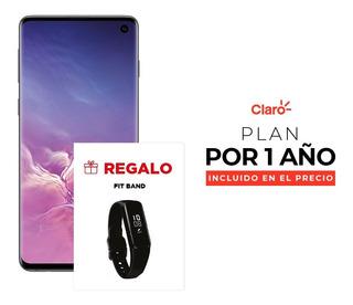 Samsung Galaxy S10 - Black + Plan De 4gb Incluido Por 1 Año