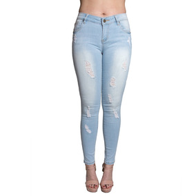 b1bd0afadf Jeans Damas Slowly Celeste Roto Jea-m-42 - Tienda Chaia
