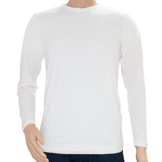 Camiseta Manga Larga Basic Blanca Eti Desprendible Disershop