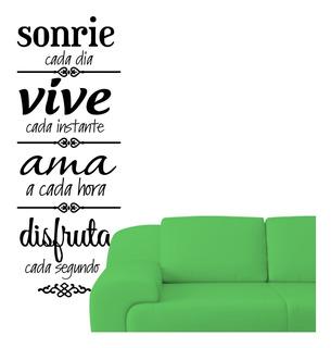Vinilo Decorativo Sonrie Frase Motivadora 125 X 46cm