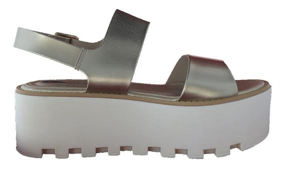 Plataforma Paddock Calzado Sandalia Alto De Dama Mvdsport