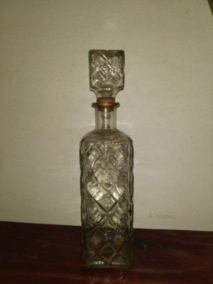 Antiguo Botellon De Whisky Para Licor