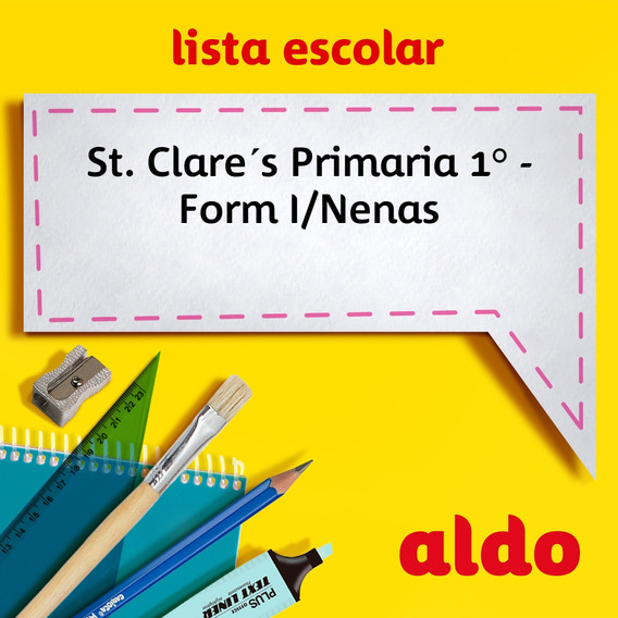 Lista Escolar St. Clare´s Primaria 1° - Form I/nenas