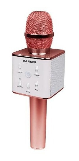 Microfono Karaoke Bluetooth Parlante Niña Musica - Rosa