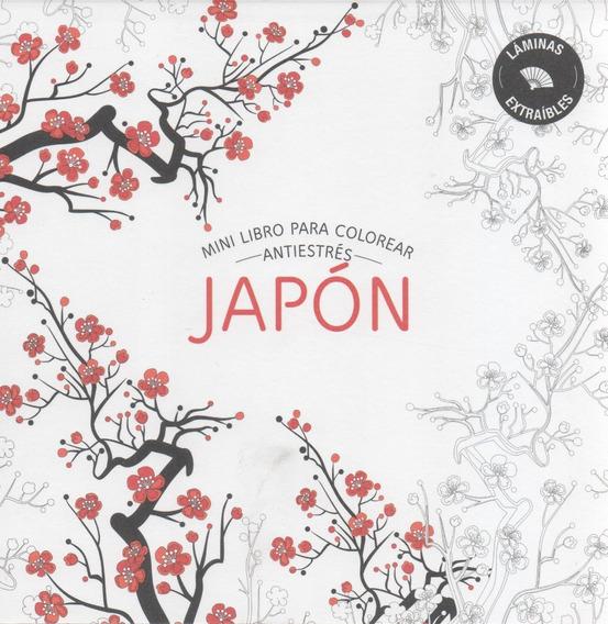 Libro: Japón: Mini Libro Para Colorear Antiestrés
