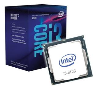 Procesador Intel Core I3 8100 - 4 Núcleos - 3.6 Ghz. Usado.