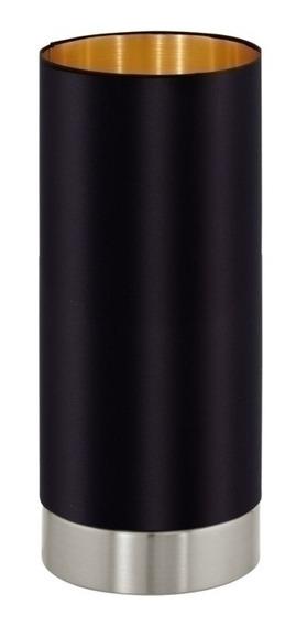 Lámpara De Mesa Maserlo Negra, Regulador Táctil- Eglo Eg0256