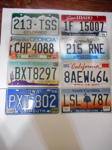 Matriculas Auto Americanas Originales 30x15 De Coleccion