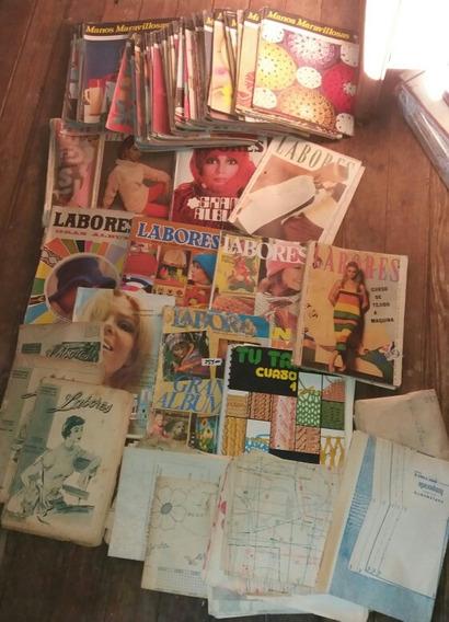 Gran Lote Revistas Antiguas Bordados Labores Costura