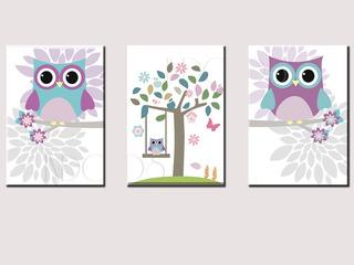 3 Cuadros Niña, Decoración Infantil 19 X 28, Envío Gratis