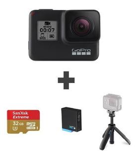 Gopro Hero 7 Black + Memoria + Bateria + Shorty Go Pro