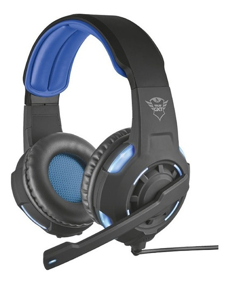 Headset Trust Gxt350 Gaming Gamer 7.1 Virtual Iluminado Usb