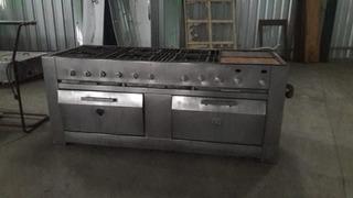 Cocina Industrial A Gas 6 Hornallas Plancha 2 Horno